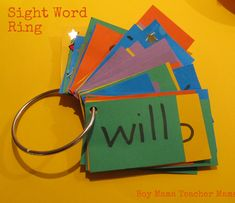 Boy Mama: Simple But Smart: Sight Word Ring