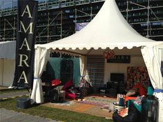 AMARA's stand at MINT Polo in the Park