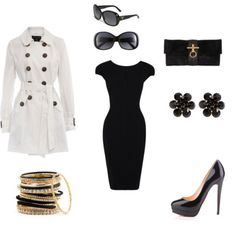 broadway show... classic, comfy and stylish. Black dress, heels, clutch, earrings and killer sunglasses