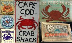 Design your own vintage style Crab sign using repurposed wood