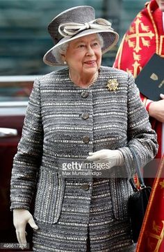 Foto di attualità : Queen Elizabeth II attends a service to mark the...