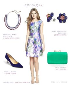Love florals for Spring wedding guest dresses!