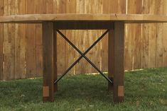 Arbor Exchange | Reclaimed Wood Furniture: Round Dining Table with Metal X Reclaimed Wood Furniture, Tree Stump, Round Dining Table, Metal, Home Decor, Decoration Home, Room Decor, Round Dinning Table, Reclaimed Furniture