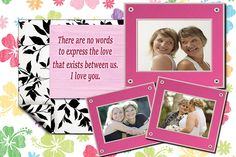 Lovely and touching Mother's Day collage - a great personal gift for your mom! Find even more collage templates at http://ams-collage.com. #MothersDayCollage #MothersDayGift
