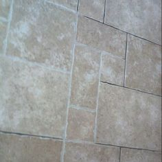 Tile and Grout Coloring in action - After. The floor looks ...