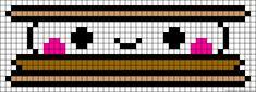 Kawaii S'more Hama Perler Bead Pattern
