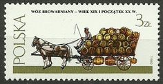 Poland, 1980, Mi 2723, Beer wagon, #318, MNH