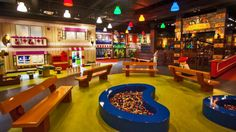 Interior of play area at legoland