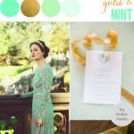 Color Story | Mint + Gold  http://www.theperfectpalette.com/2014/01/party-palette-mint-and-gold.html?utm_source=CraftGossip+Daily+Newsletter&utm_campaign=c14a0e36ab-CraftGossip_Daily_Newsletter&utm_medium=email&utm_term=0_db55426a84-c14a0e36ab-196060585