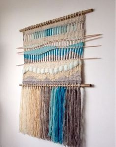 Weaving Textiles, Weaving Art, Loom Weaving, Tapestry Weaving, Hand Weaving, Macrame Wall Hanging Patterns, Weaving Wall Hanging, Creative Textiles, Art Textile