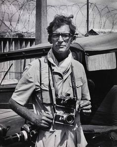Larry Burrows on assignment in Vietnam.jpg  These images are supplied ONLY for press use i...