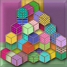 3D Decorative Boxes (256 pieces) Puzzle created by Hummingbird59Published 1 day ago Image copyright: (C) Kathy Potts 2017