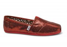 $25.00Red Womens Glitters Toms Shoes [toms-019] :