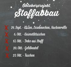 Frühstück bei Emma: Wer hat Lust auf eine neue Runde: Oktoberprojekt -Stoffabbau ??