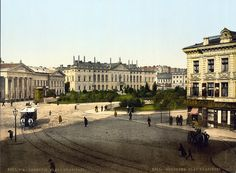 Prewar Plac Krasiński in Warsaw Warsaw City, Warsaw Poland, Different Architectural Styles, Native Country, White City, 19th Century, Europe, Inspiration, Landscape