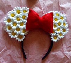 Minnie Mouse Daisy Ears by CrazyBeautifulCreati on Etsy, $18.00