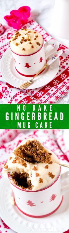 No Bake Gingerbread Mug Cake Recipe