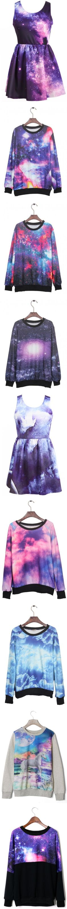 "Surprisingly, I love the galaxy print. ""Udobuy galaxy items"" by udobuy ❤ liked on Polyvore"