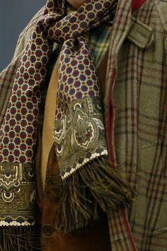 Accessorizing for Fall ~ Pattern mix, coordinated color schemes, texture.