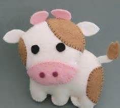 Felt cow. Bing Images