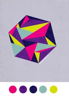 Love the colors, of course, but the geometric shapes in this illustration are what inspire me the most.