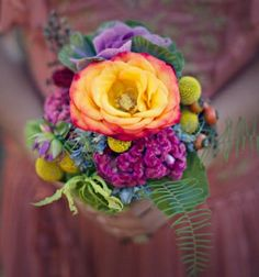 Predicted Bridal bouquet trend for 2013  Bright rainbow colours. Hope this trend comes true