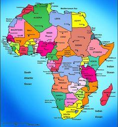SW- Afrika lande en hulle Hoofstede -