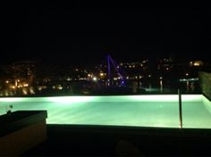 Nightview over Elounda bay palace