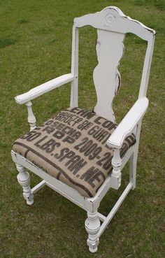 Burlap Coffee Sack Chair