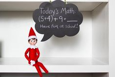 Elf speaks (through chalkboard bubble)