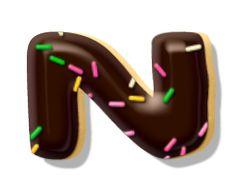 Alfabeto con galletas cubiertas de chocolate.   Oh my Alfabetos!