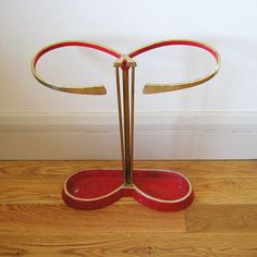Shop for on Etsy, the place to express your creativity through the buying and selling of handmade and vintage goods. Vintage Home Accessories, Umbrellas Parasols, Mid Century Furniture, Eames, Furniture Decor, 1950s, Umbrella Stands, Curvy, Vintage Umbrella