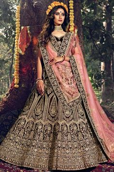 Wine velvet semi stitch lehenga with velvet choli. This lehenga choli is embellished with resham, zari, stone and dori work. Product are available in 32 to 58 sizes. It is perfect for Bridal Wear. #wine #bridal #lehanga #choli# Andaazfashion #Malaysia Bridal Lehenga Choli, Lehenga Dupatta, Bollywood Lehenga, Celebrity Gowns, Latest Sarees, Embroidered Clothes, How To Dye Fabric, Suits For Women, Velvet