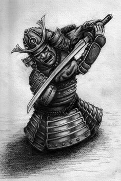 Here is a samurai warrior i drew as a design for a mates tattoo. I kinda got carried away with the detail and as he wants it on his arm i fear it may cost him alot more money and hours under the gu...