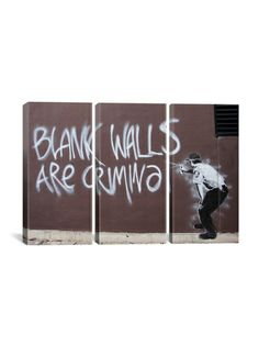 Blank Walls Are Criminal Triptych (Canvas)