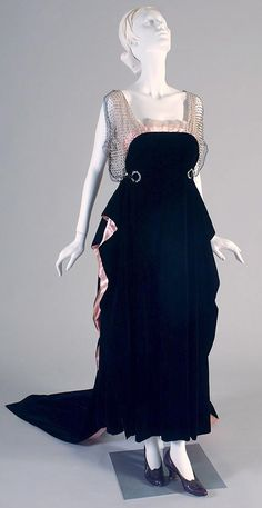 Evening Dress by Worth, circa 1912~ From the Kent State University Museum.