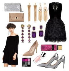 """NY PARTY LOOK"" by liza-kudryashova on Polyvore featuring мода, Alice + Olivia, Whistles, BCBGMAXAZRIA, Zara, Diane Von Furstenberg, Chloé, Gucci и Goshwara"