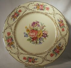 ROSENTHAL china QUEEN'S BOUQUET pattern Dinner Plate 10 1/2""