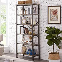 Check this out at Amazon Metal Shelving Units, Metal Bookcase, Open Shelving, Regal Industrial, Industrial Interiors, Vintage Industrial, Metal Furniture, Furniture Plans, Industrial Furniture
