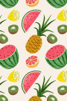 Fruit Bowl Fun Watermelon Wallpaper Keyboard Decals by Debbies Designs for 12 inch MacBook