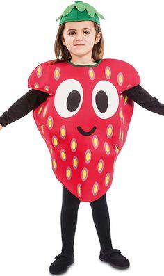 Disfraz de Fresa Sonriente para niño y niña Sully, Costumes, Cars, Children Costumes, Strawberry Costume, Kids Fruit, Strawberry Fruit, Dress Up Clothes, Fancy Dress