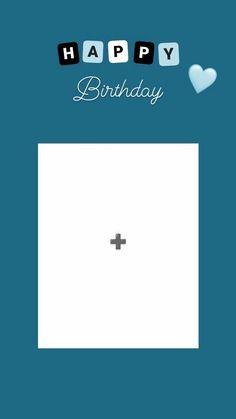 Happy Birthday Template, Happy Birthday Frame, Happy Birthday Posters, Happy Birthday Quotes For Friends, Happy Birthday Wallpaper, Birthday Posts, Birthday Frames, Story Instagram, Photo Instagram