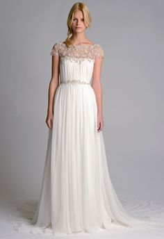 Look and feel like a goddess with lace capelets on your wedding dress.  #MarriedInLV