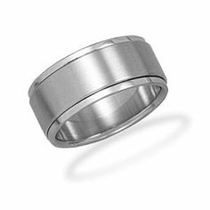 Stainless Steel Mens Spin Ring 9.5mm 316l Stainless Steel Spin Ring - Size 11 - JewelryWeb JewelryWeb. $25.90. Save 50% Off!