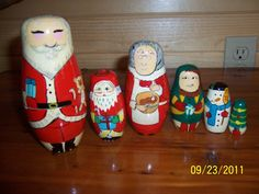 santa nesting stackable toy in dcbaugh81's Garage Sale in Jefferson , IA for $3.00. 6 pc santa nesting stackable toy.