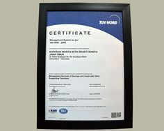 Dari hasil audit, Kopwan SBW dinyatakan layak menerima sertifikat ISO 9001:2008. Sertifikat itupun diserahkan pada puncak peringatan Harkopnas ke 37 di Kupang – NTT.