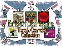 British Literature Task Cards Collection - Danielle Knight - TeachersPayTeachers.com