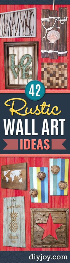 Rustic wall art ideas - diy farmhouse wall art and vintage decor for walls - country