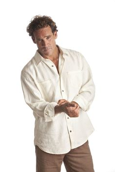 Men's Long Sleeve Button Down - 96 USD - 100% Hemp Linen