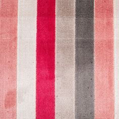 Brown/Red Striped Polyester Blended Velvet Fabric by the Yard   Mood Fabrics